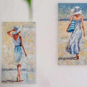 Wandbilder Gemälde Frauen am Strand